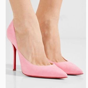 Christian Louboutin Decoltish 100 Suede - Dolly